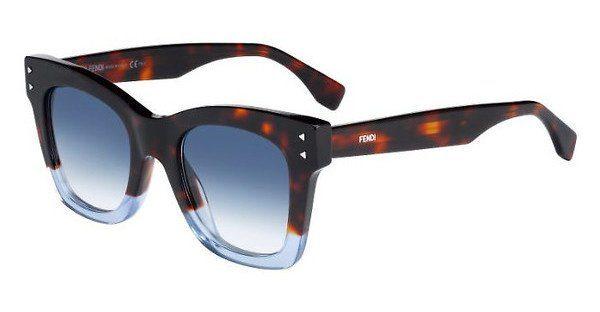 FENDI Fendi Damen Sonnenbrille » FF 0200/S«, blau, IPR/08 - blau/blau