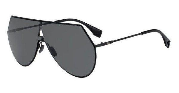 FENDI Fendi Damen Sonnenbrille » FF 0296/S«, schwarz, 807/IR - schwarz/grau