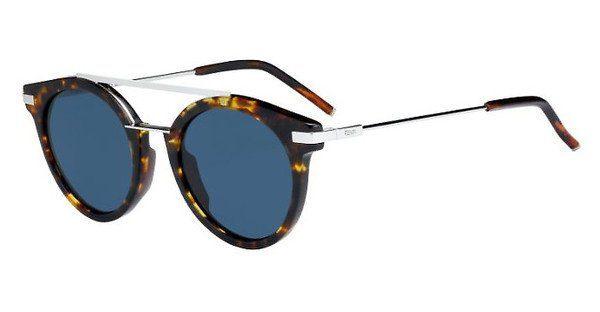 FENDI Fendi Herren Sonnenbrille » FF 0225/S«, schwarz, 807/QT - schwarz/grün