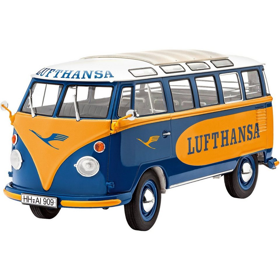 revell modelbausatz vw t1 samba bus lufthansa otto. Black Bedroom Furniture Sets. Home Design Ideas