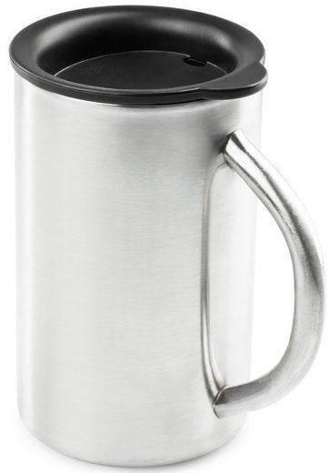 GSI Trinkflasche »Edelstahl Henkelbecher mit Deckel 440ml«