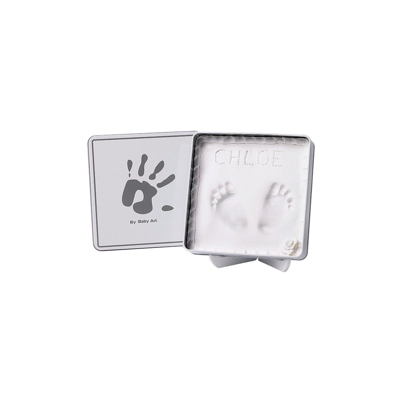 Baby Art Gipsabdruck Magic Box, white/grey