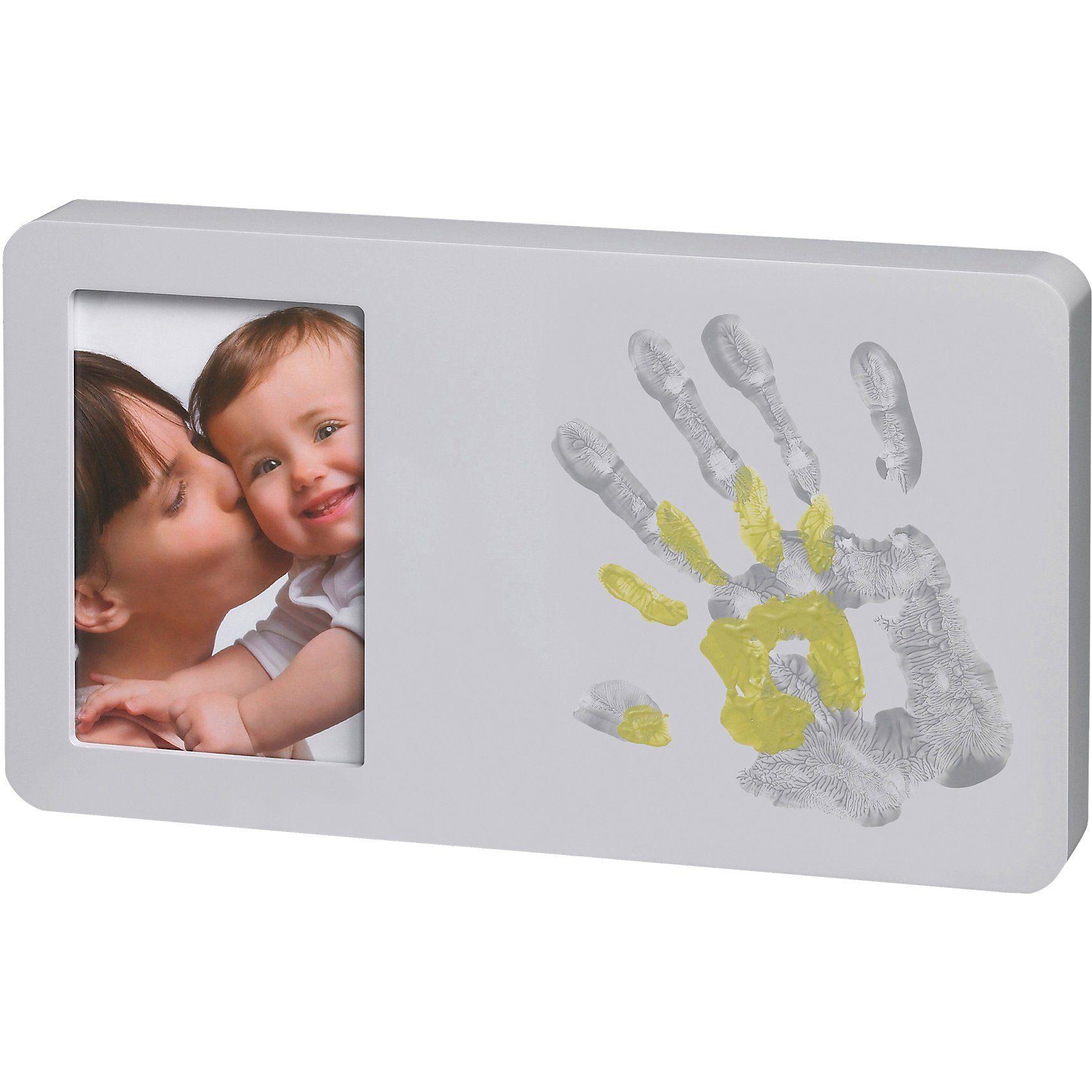 Baby Art Bilderrahmen mit Handabdruck, pastel