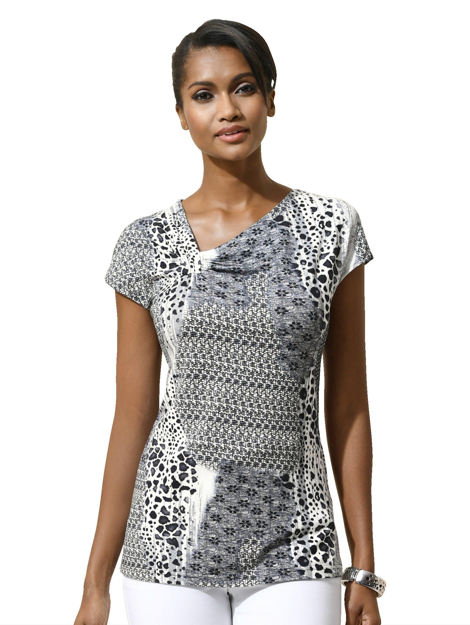 Shirt Alba Moda schwarz/weiß Alba Moda PcV0W