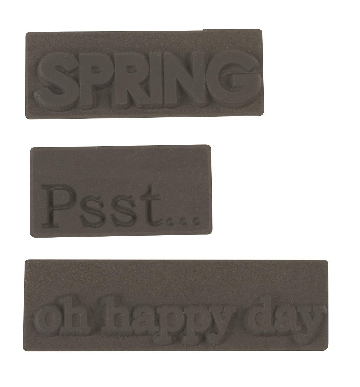 """Reliefeinlage """"Psst, Spring, oh happy day"""" 3 Stück"""