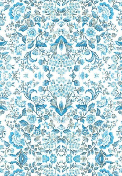 """Stamperia Motiv-Strohseide """"Flower Azure"""" DIN A4"""