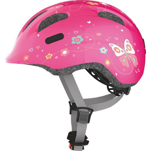 ABUS Fahrradhelm Smiley 2.0, pink butterfly