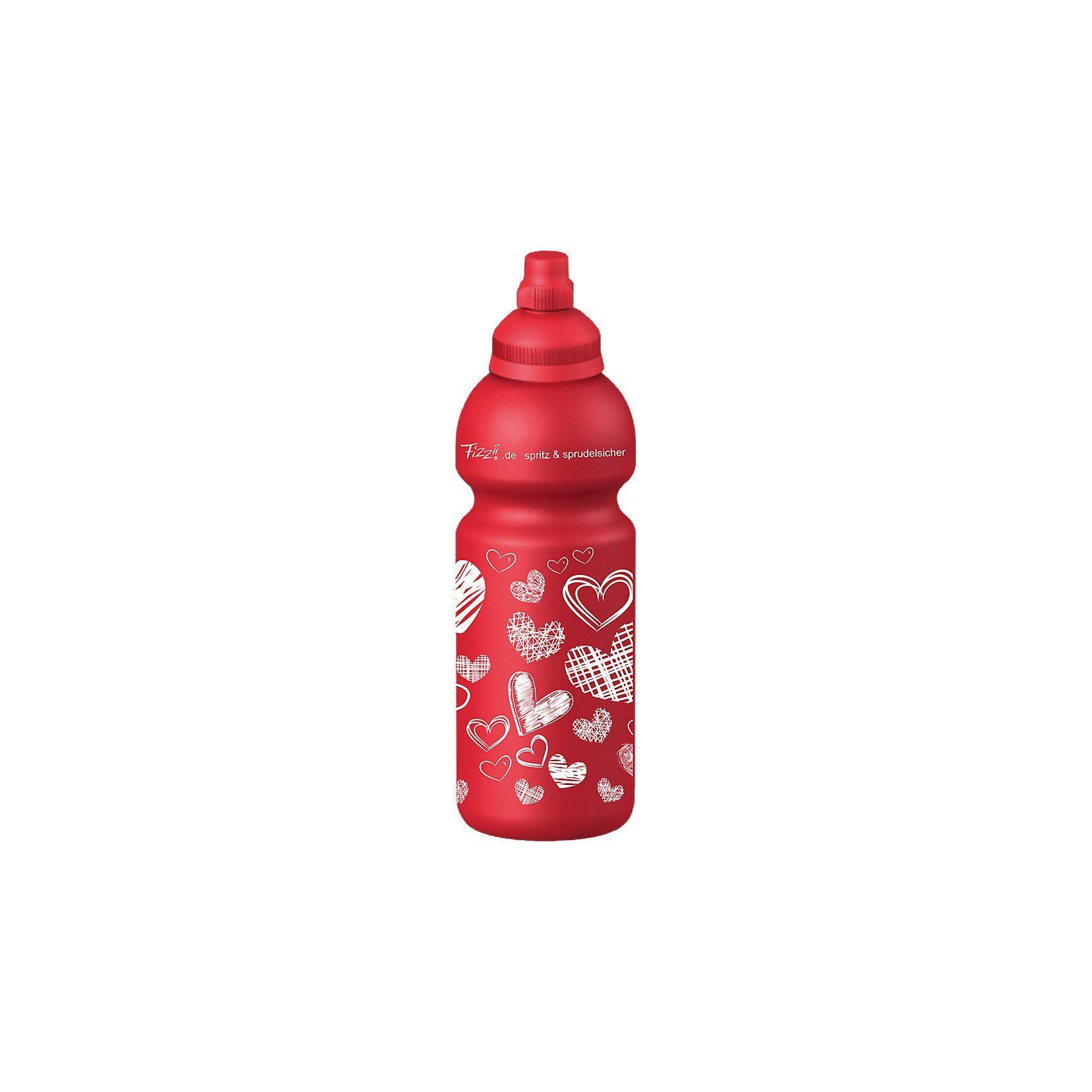 Fizzii Trinkflasche Herzen, 600 ml