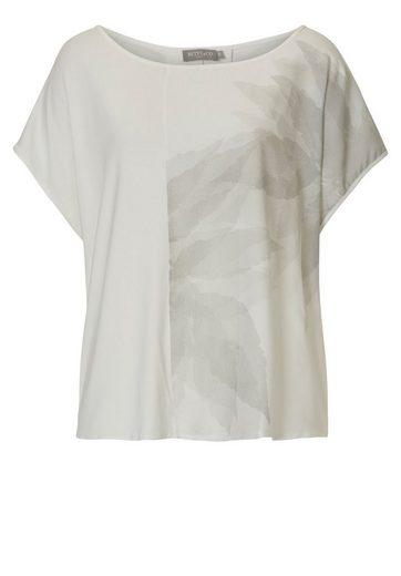 Betty&Co Shirt mit dezentem Blattdruck