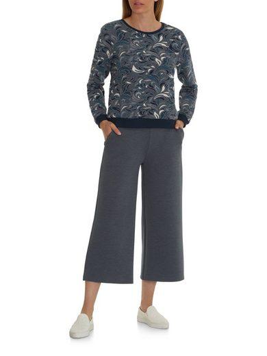 Betty&Co Pullover gemustert mit Rundhalsausschnitt