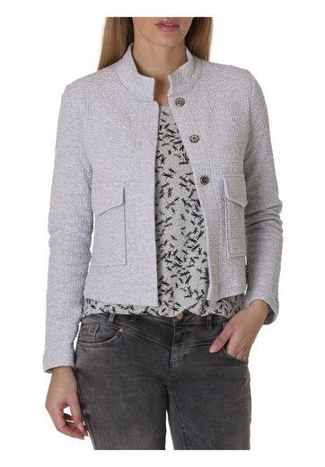 Betty & Co Sweat Jacket With Stehkragen