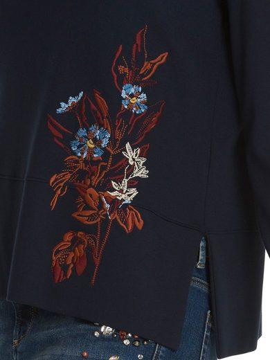 Betty&Co Sweatshirt mit Blumen-Stickerei