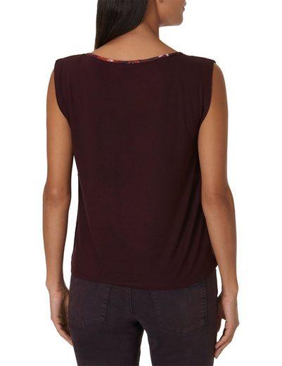 Betty&Co Blumenprint Shirt mit überschnittenem Arm