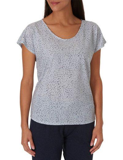 Betty&Co Punkte-Shirt aus Leinenmischung