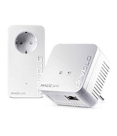 DEVOLO »(1200Mbit, G.hn, Powerline + WLAN, Mesh)« WLAN-Router, Magic 1 WiFi mini Starter Kit