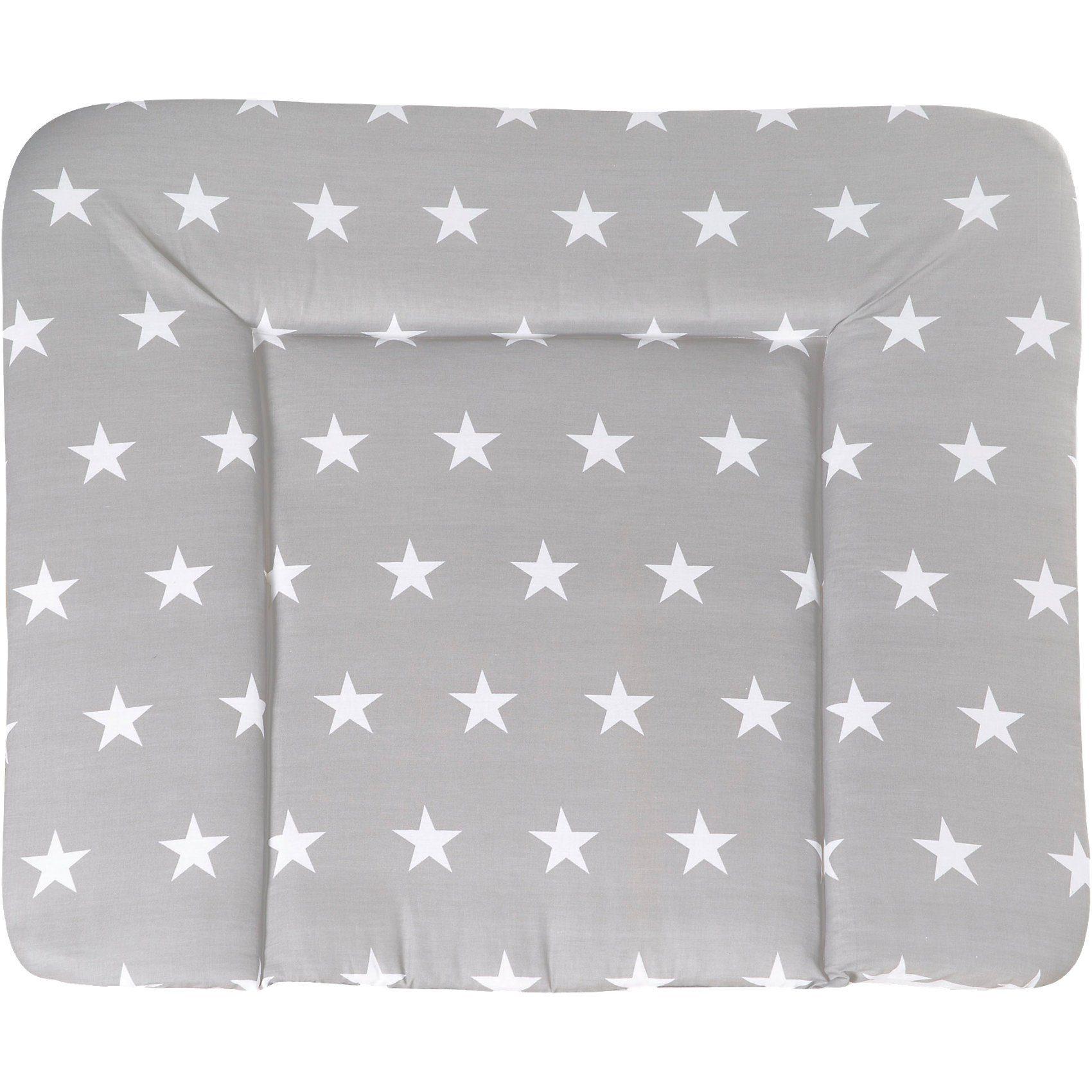 Roba® Wickelauflage Soft, Little Star grau, 85 x 75 cm