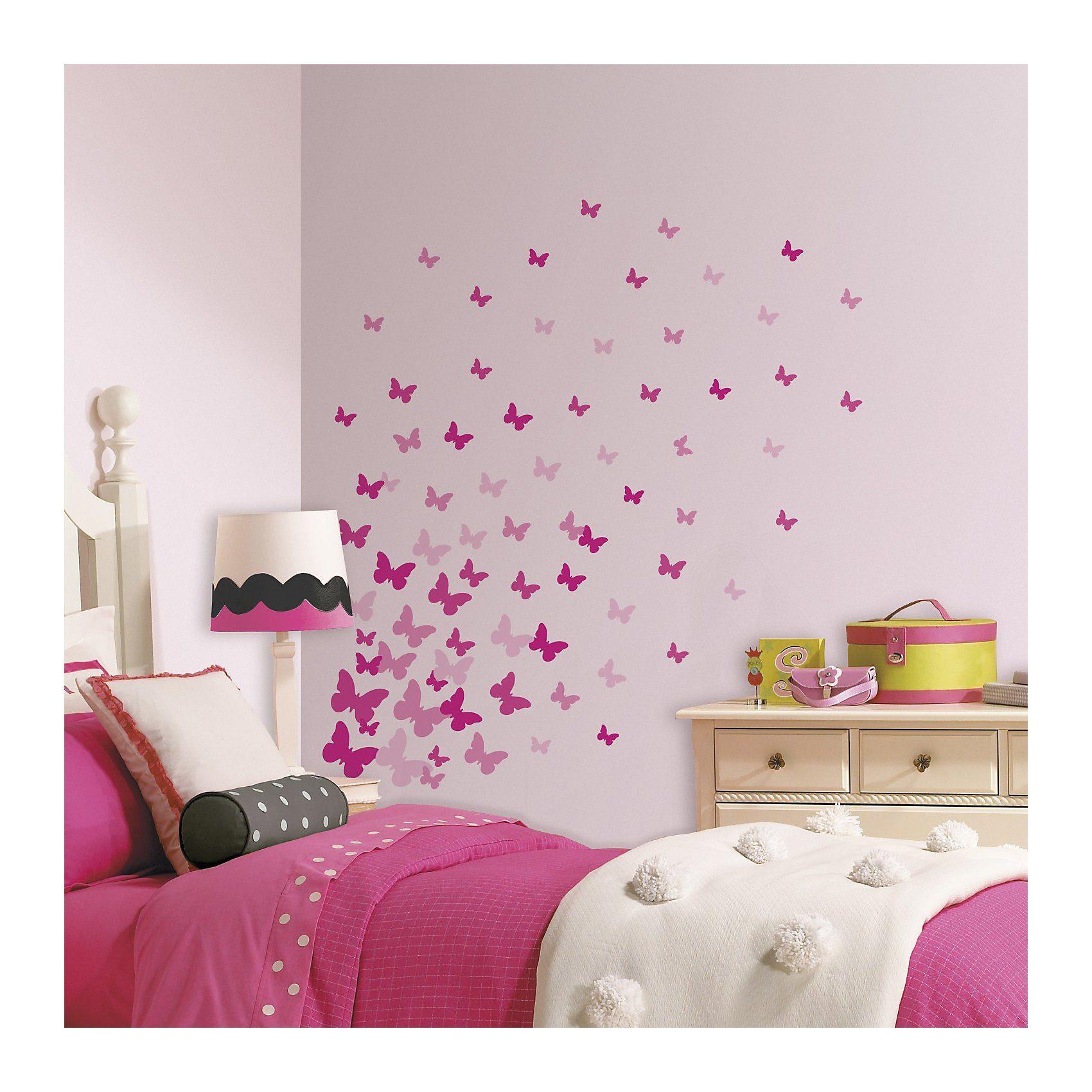 RoomMates Wandsticker Schmetterlinge, 75-tlg.