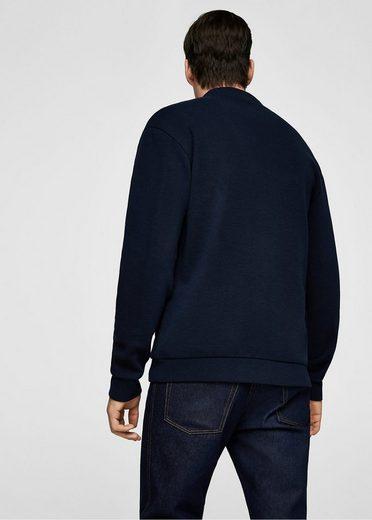 MANGO MAN Sweatshirt aus Baumwolle mit Knöpfen