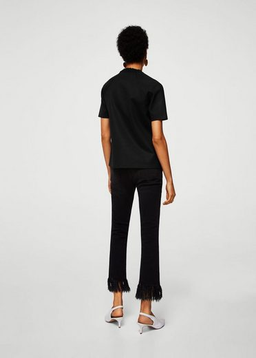 MANGO T-Shirt mit plissiertem Detail
