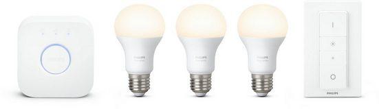 Philips Hue »White« LED-Lichtsystem, E27, 3 Stück, Neutralweiß, Tageslichtweiß, Warmweiß, Extra-Warmweiß, smartes LED-Lichtsystem mit App-Steuerung