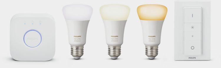 Philips Hue »White Ambiance« LED-Lichtsystem, E27, 3 Stück, Neutralweiß, Tageslichtweiß, Warmweiß, Extra-Warmweiß, smartes LED-Lichtsystem mit App-Steuerung