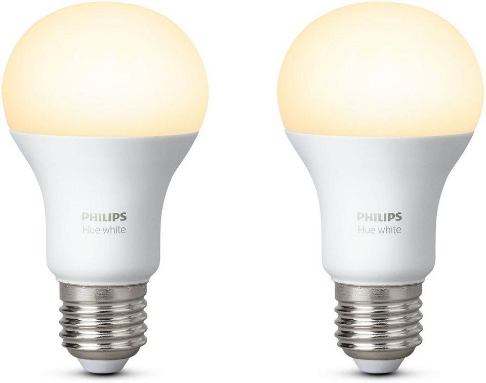 philips hue white e27 doppelpack smartes led lichtsystem mit app steuerung online kaufen otto. Black Bedroom Furniture Sets. Home Design Ideas