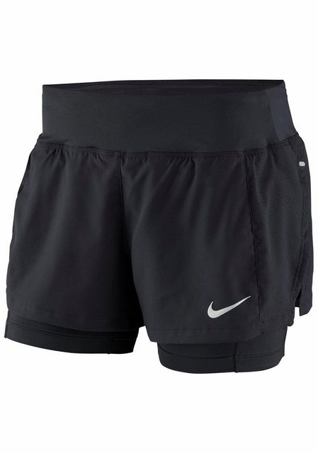 Damen Nike 2-in-1-Shorts NK FLX 2IN1 TRIUMPH schwarz | 00888412681020