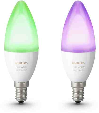 Philips Hue White & Color Ambiance E14 Doppelpack - smartes LED-Lichtsystem mit App-Steuerung