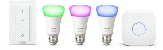 Philips Hue »White and Color Ambiance« LED-Lichtsystem, E27, 3 Stück, Neutralweiß, Tageslichtweiß, Warmweiß, Extra-Warmweiß, Farbwechsler, smartes LED-Lichtsystem mit App-Steuerung