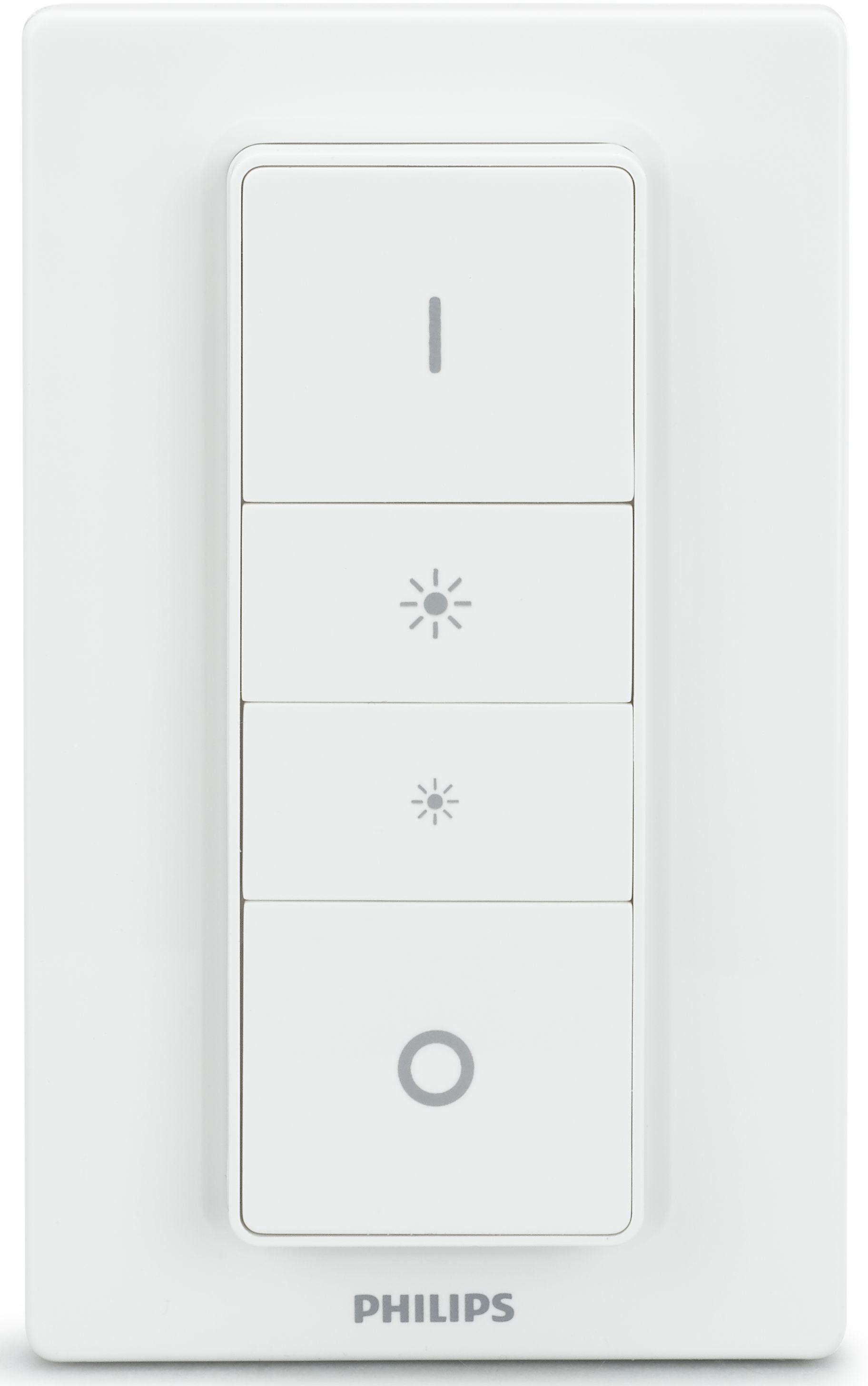 Philips Hue Dimmschalter, komf. Dimmen o. Installation - smartes LED-Lichtsystem, App-Steuerung