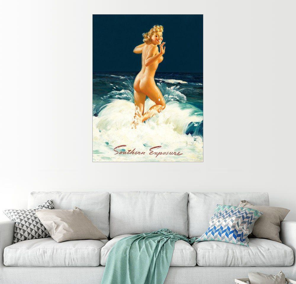Posterlounge Wandbild - Al Buell »Pin Up - Southern Exposure« | Dekoration > Bilder und Rahmen > Bilder | Holz | Posterlounge