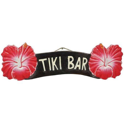 Oriental Galerie Wandbild »Hawaii Wandbrett Schild Tiki Bar 53 cm Nr. 9«, Schriftzug, Handarbeit
