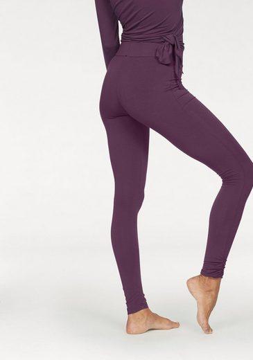 LASCANA Yoga Leggings mit gekräuselten Beinsäumen