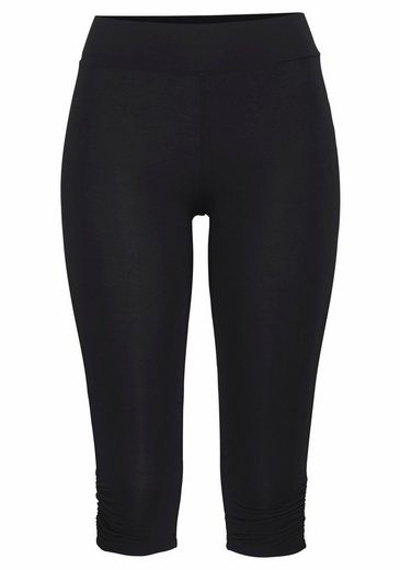 LASCANA Yoga Capri Leggings mit Raffung am Saum