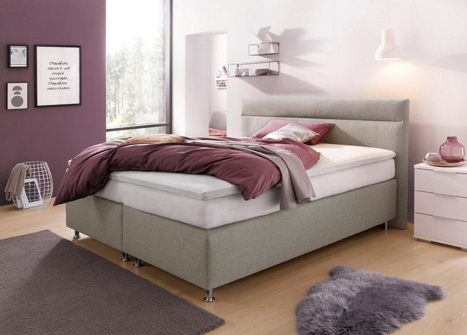 westfalia schlafkomfort boxspringbett wahlweise mit led. Black Bedroom Furniture Sets. Home Design Ideas
