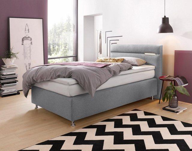 Westfalia Schlafkomfort Boxspringbett| wahlweise mit LED-Beleuchtung | Schlafzimmer > Betten > Boxspringbetten | Westfalia Schlafkomfort