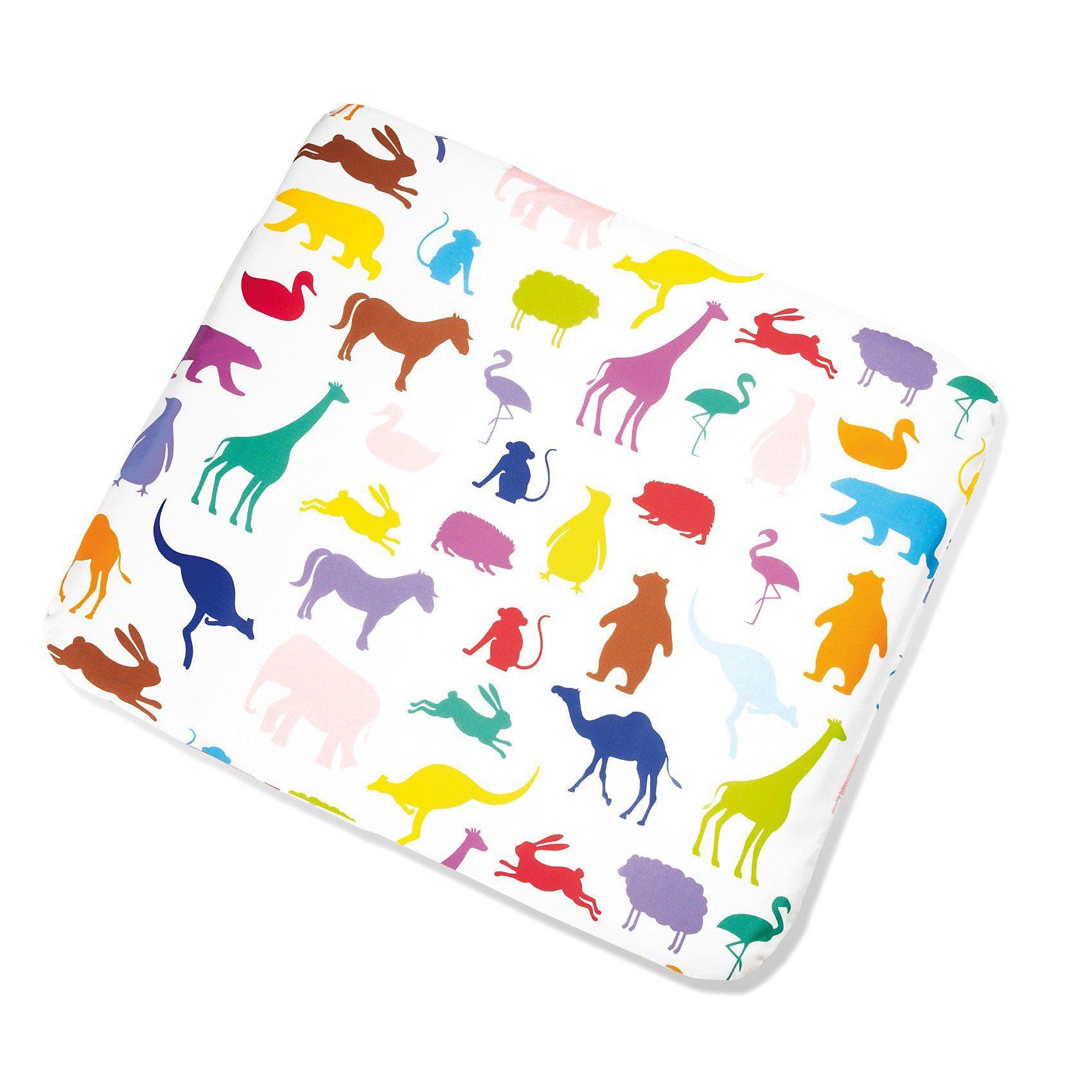 Pinolino® Bezug für Wickelauflage Happy Zoo, 86 x 76 cm