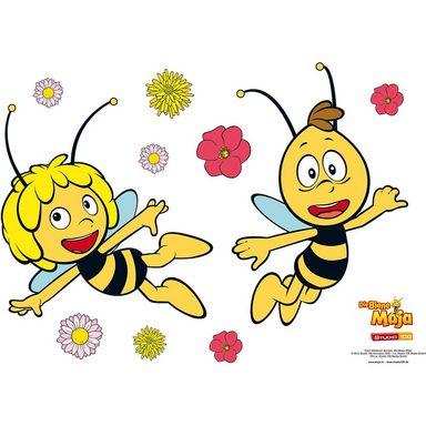 Wandsticker Biene Maja und Willi, 67 x 47 cm