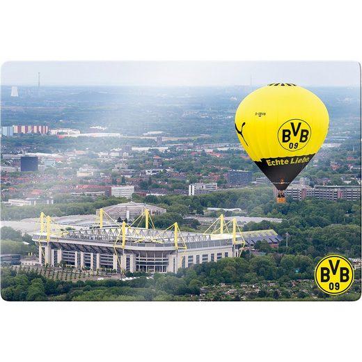 Borussia Dortmund Wandbild BVB Signal Iduna Park Heißluftballon, Glas, 60 x 40