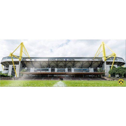 Borussia Dortmund Wandbild BVB Signal Iduna Park bei Tag Panorama, Acryl, 200