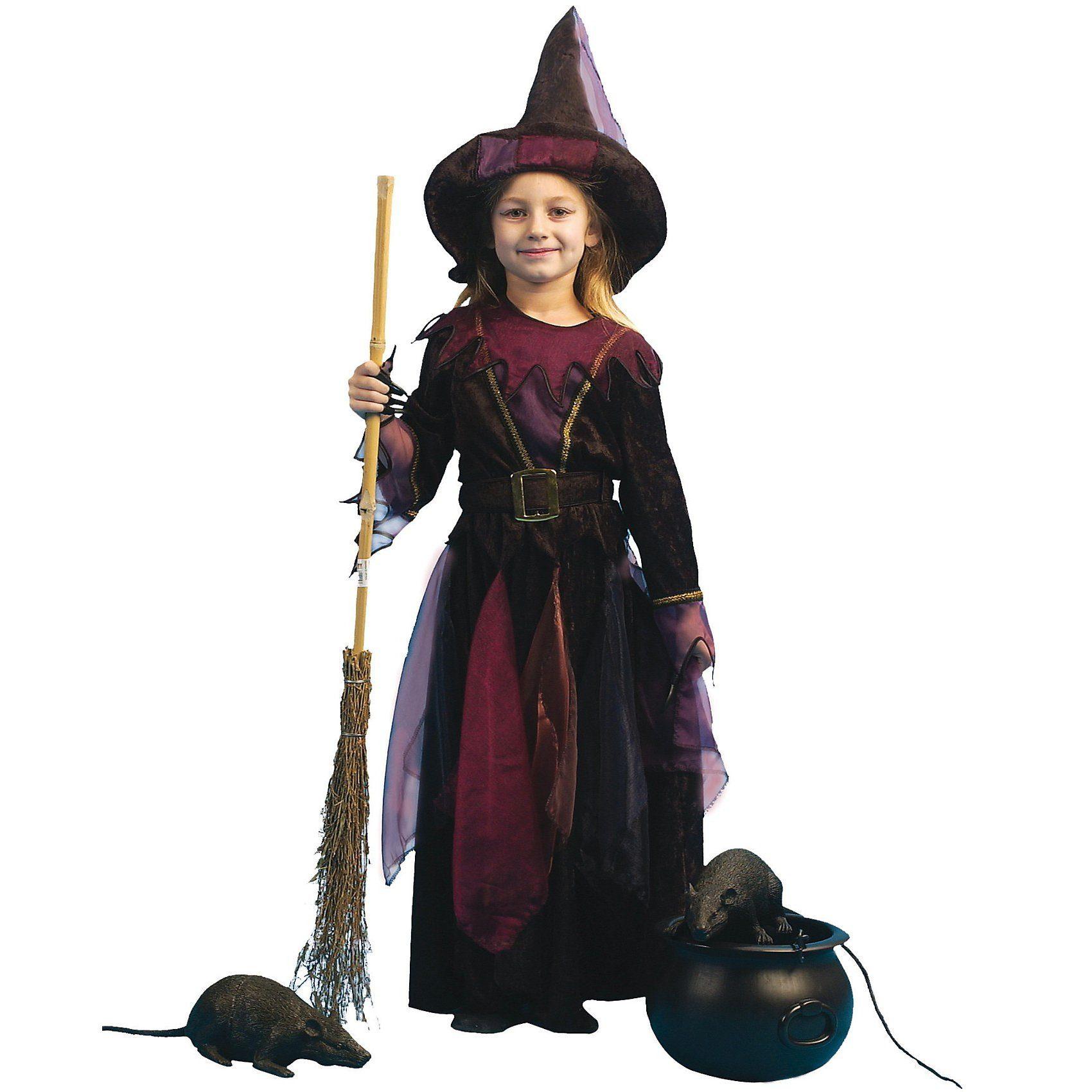 Funny Fashion Kostüm Hexlein mit Hut und Gürtel