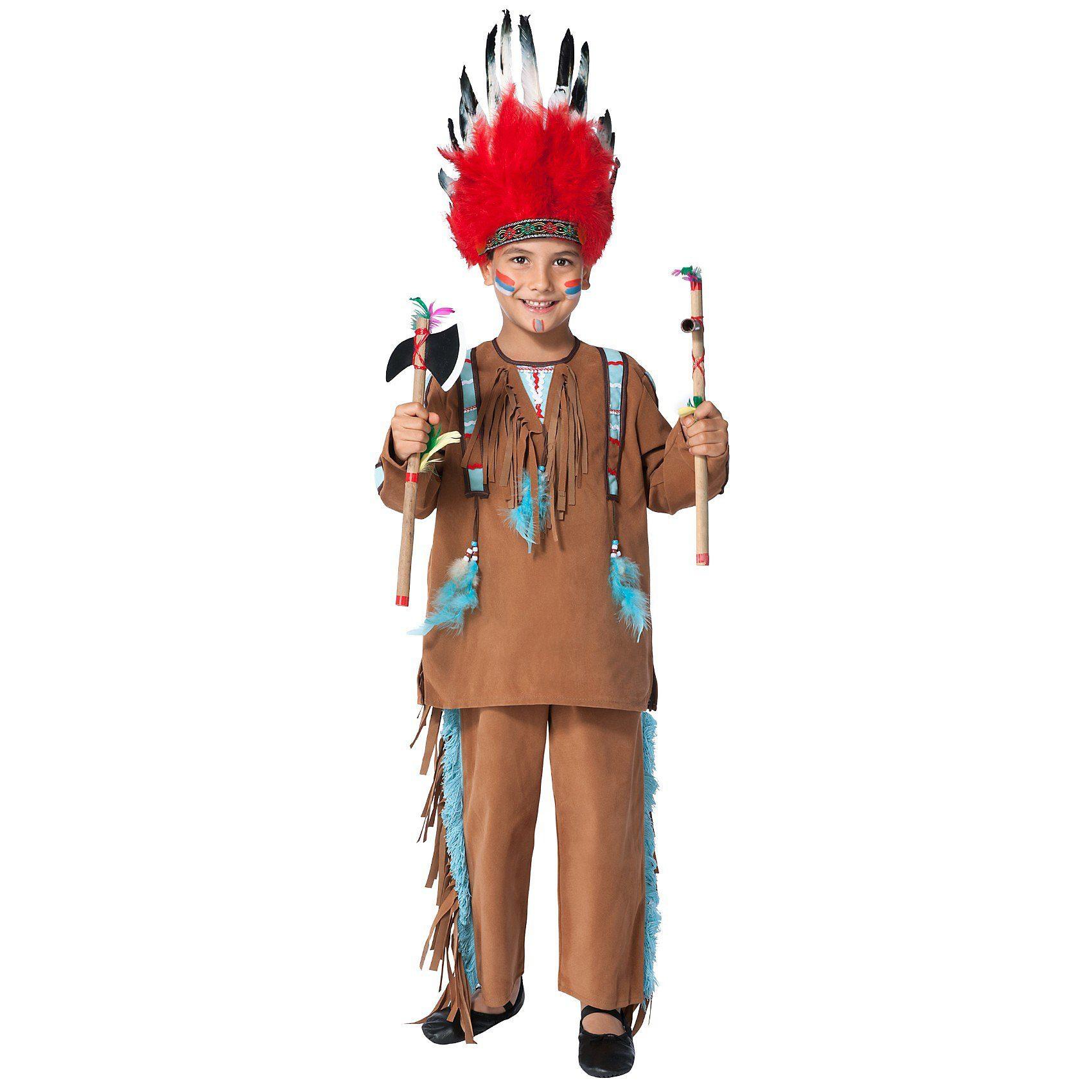Funny Fashion Kostüm Indianer, hellbraun