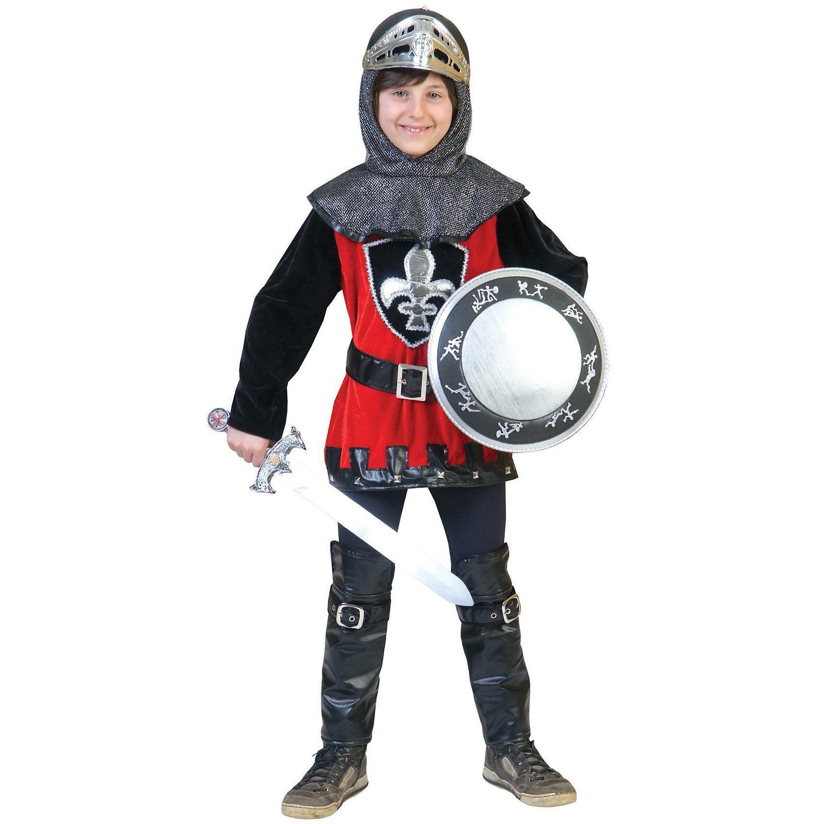 Funny Fashion Kostüm schwarzroter Ritter Anselm, 2-tlg.
