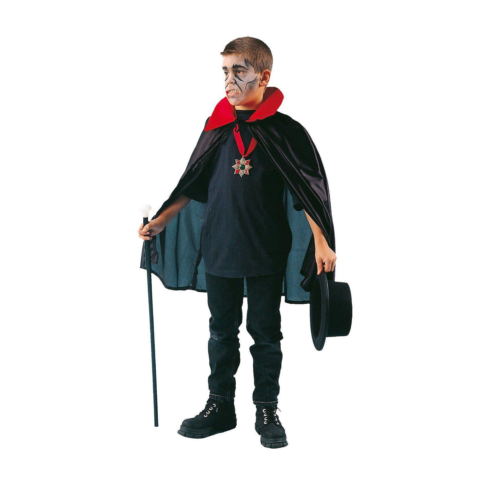Funny Fashion Dracula Umhang mit rotem Kragen