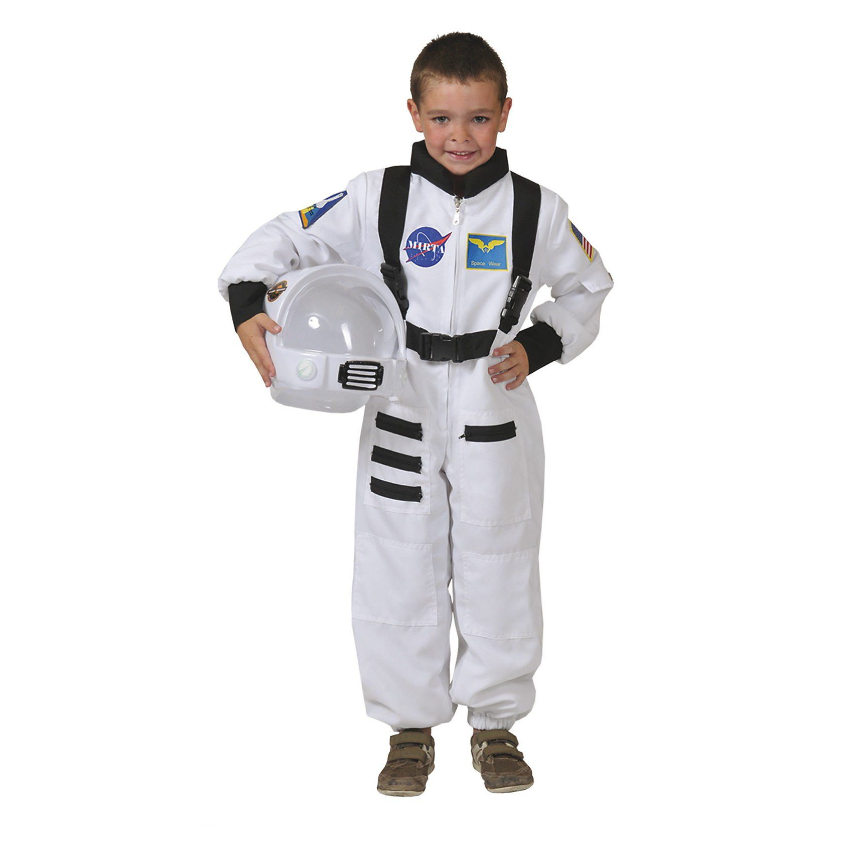 Funny Fashion Kostüm Astronaut Overall weiss