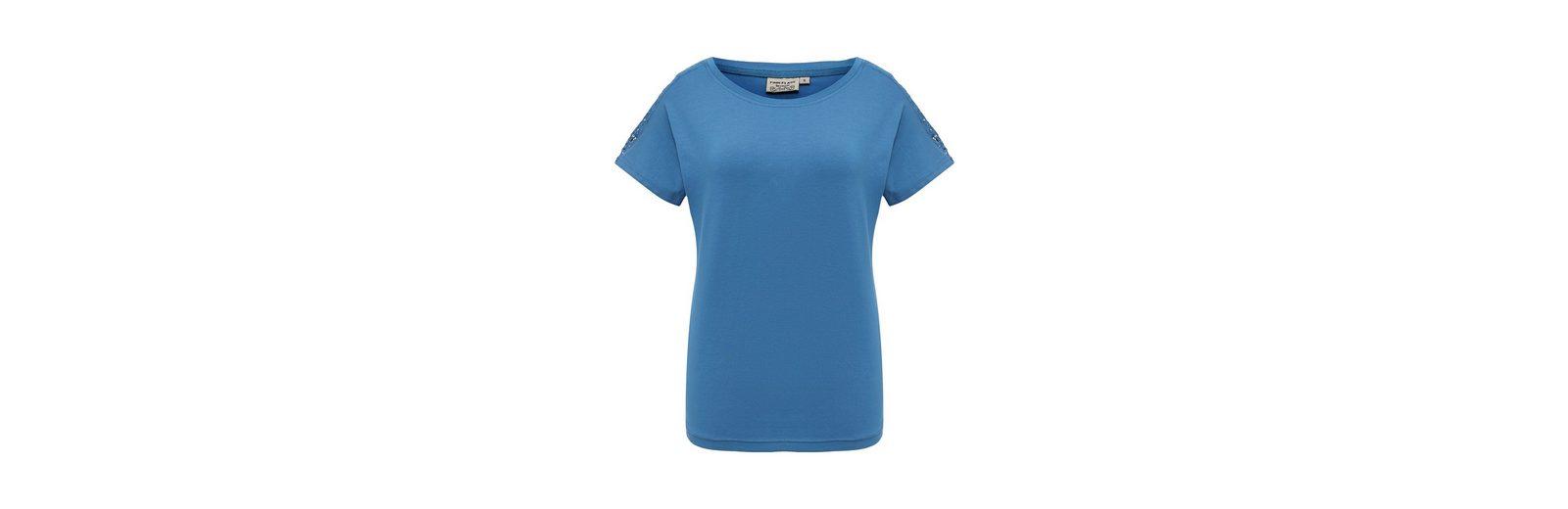 Finn Finn Shirt mit T Shirt Finn Flare T Flare T Flare Shirt mit Spitzen盲rmeln Spitzen盲rmeln rZrqBw