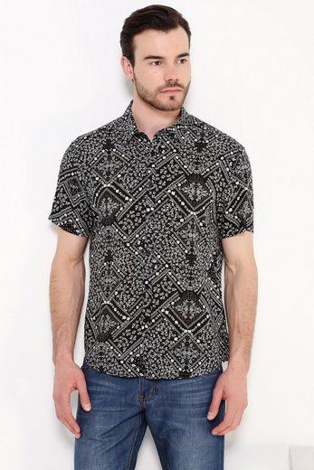 Finn Flare Freizeit-Hemd mit auffälligem Design