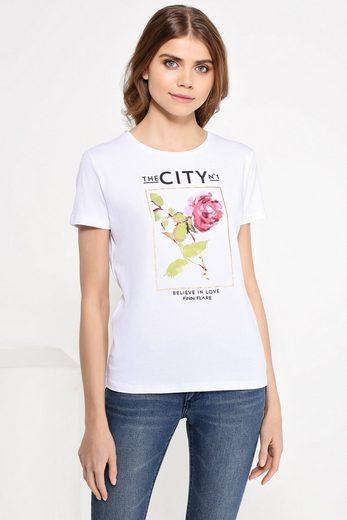 Finn Flare T-Shirt mit Blumendruck