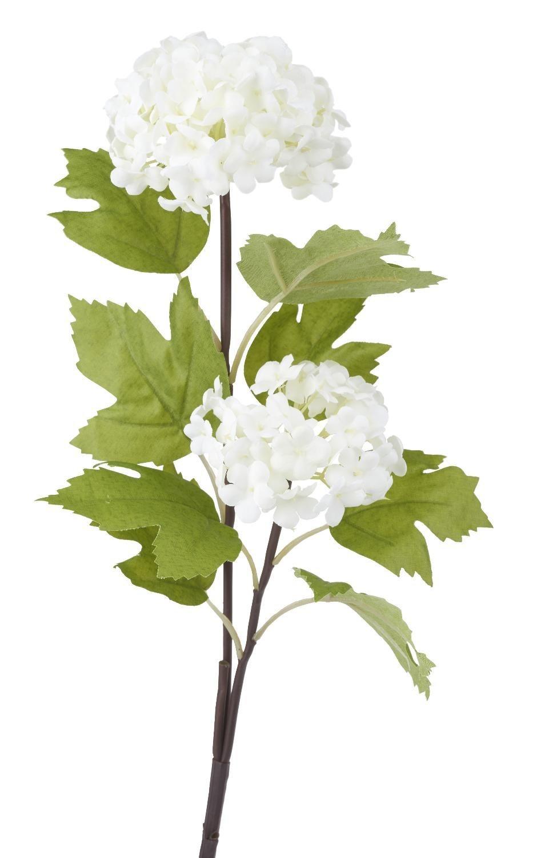 Deko-Blume ´´Schneeball Zweig´´ ca. 50 cm lang