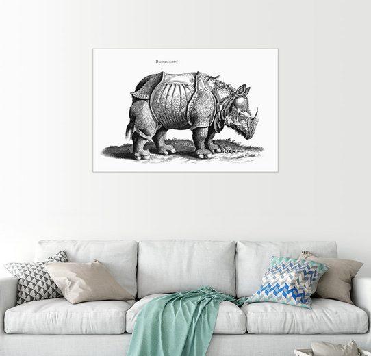Posterlounge Wandbild - Albrecht Dürer »Das Nashorn«